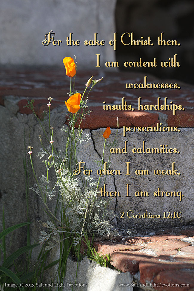 When I am Weak, I am Strong