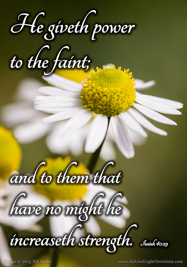 He Gives Power To The Faint
